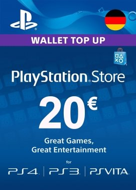 PlayStation Store Guthaben 20€