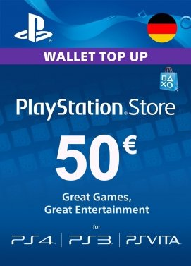 PlayStation Store Guthaben 50 Euro Key