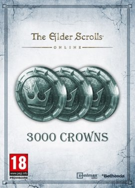 The Elder Scrolls Online Tamriel Unlimited 3000 Crown Pack Key