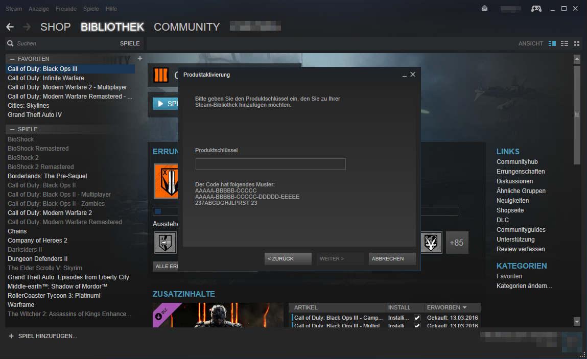 Steam Key Aktivierung 2