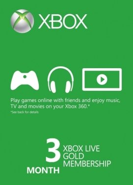 XBOX Live Gold 3 Monate Key