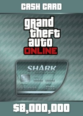 GTA Online Megalodon Shark Cash Card Key