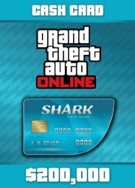GTA Online Tiger Shark Cash Card