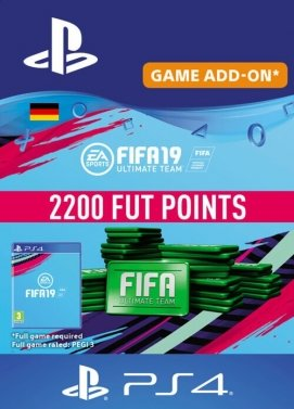 FIFA 19 2200 FUT Points PS4 Key