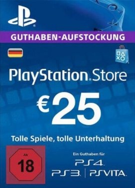 PlayStation Store Guthaben 25€